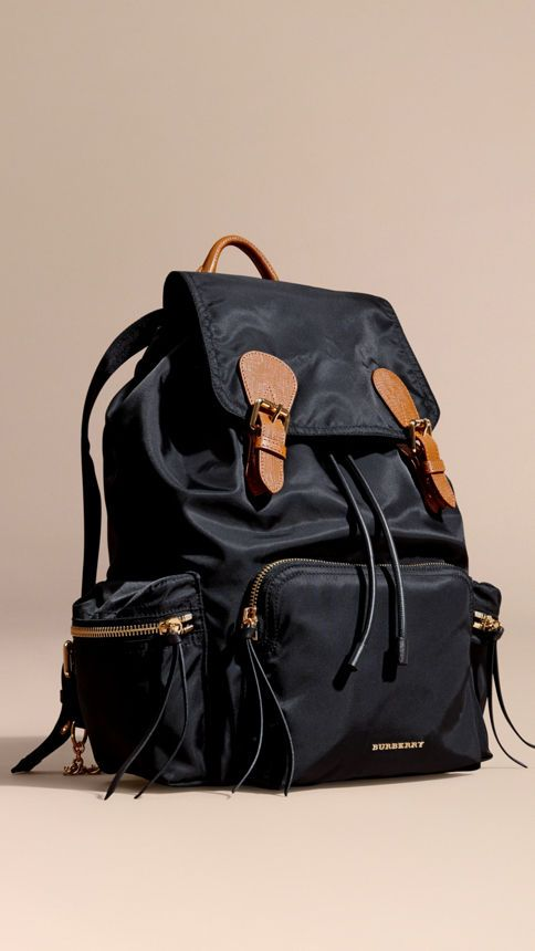 ff08d5c541a7 The Large Rucksack in Technical Nylon and Leather Black - 1 ...