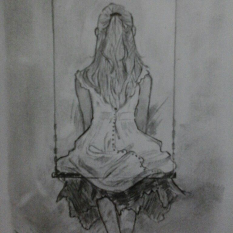Lonely girl ma new sketch