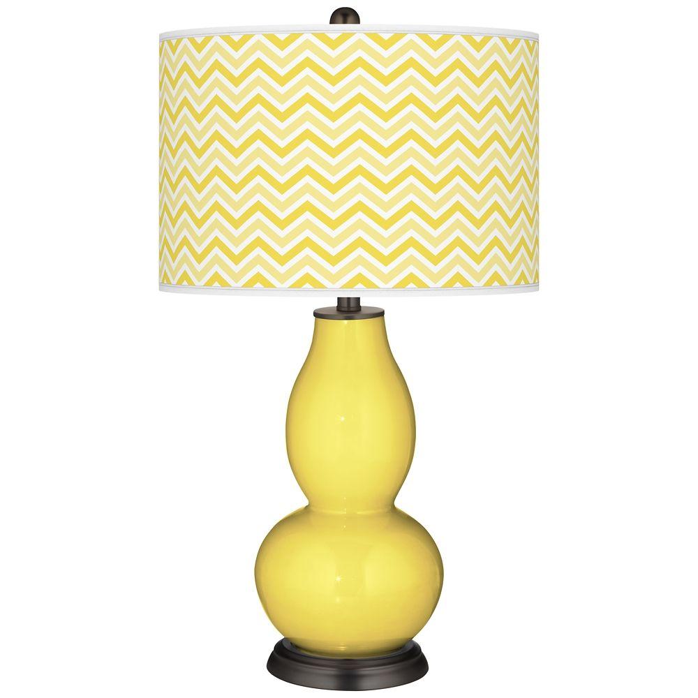 Lemon Twist Narrow Zig Zag Double Gourd Table Lamp Style