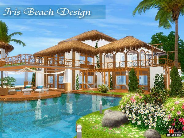 Iris Beach Design House by autaki - Sims 3 Downloads CC Caboodle - sims 3 wohnzimmer modern