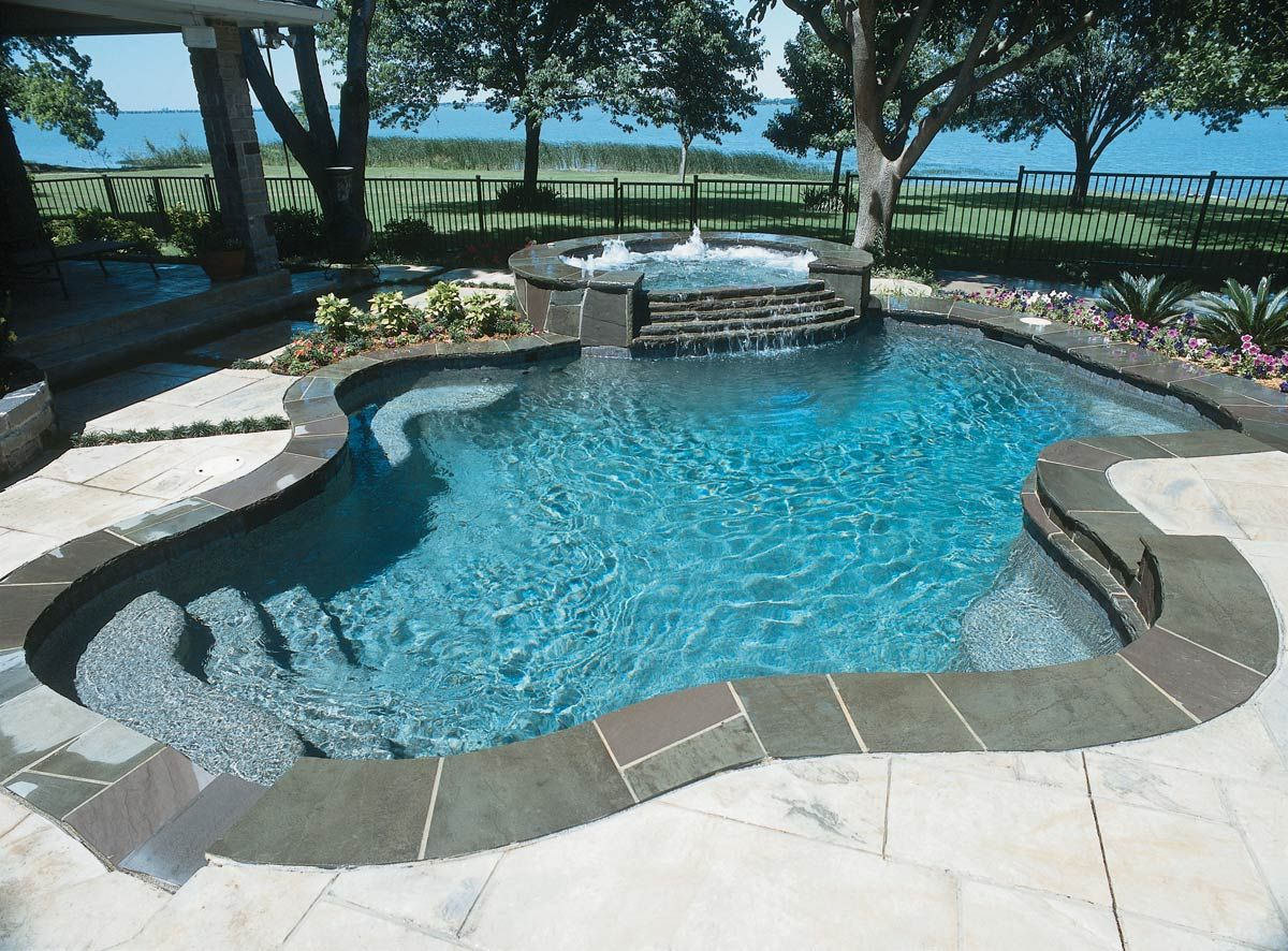 Swimming pool coping stones stone offer a stepping stone for Pool design virginia