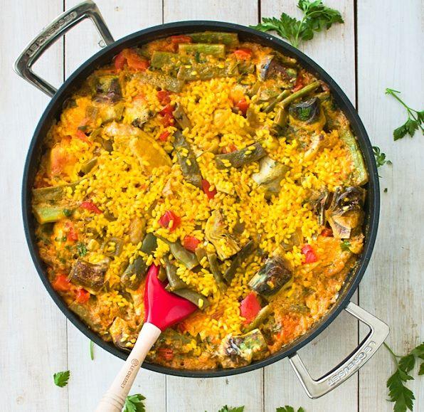 Cómo Hacer Paella Con Pollo Y Verduras Receta Paella De Pollo Como Hacer Paella Pollo Con Verduras