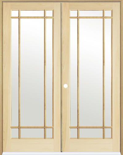 Mastercraft Pine Prairie 9 Lite Prehung Interior Double Door At
