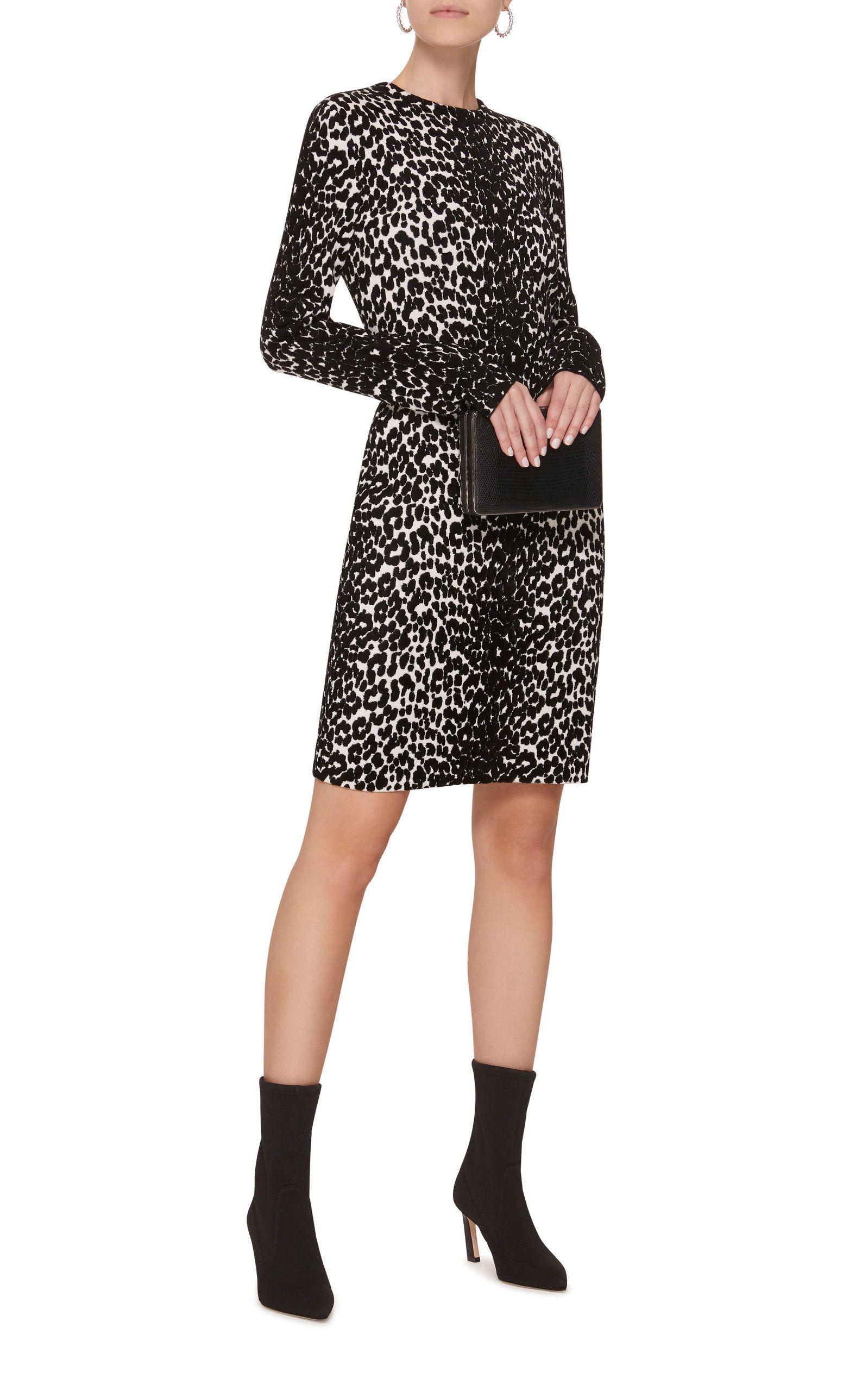 d56ccea0e0 Leopard-Print Stretch-Knit Mini Dress in 2018