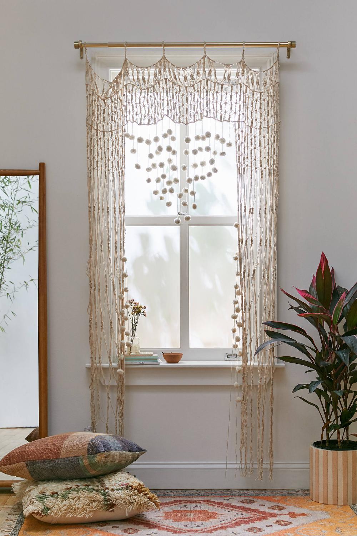 Macrame Pompom Portal Urban Outfitters Curtains Trending Decor