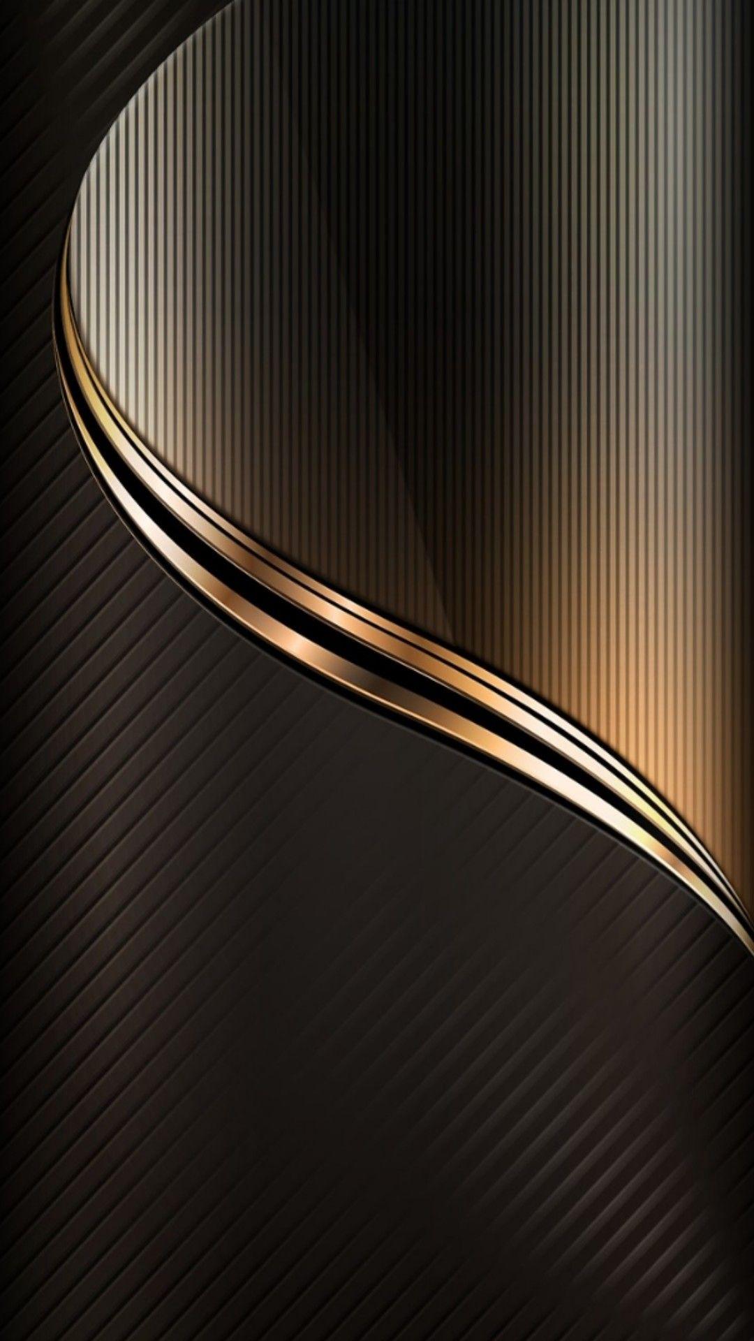 縦に入っているラインとゴールドからブラックへのグラデーションが