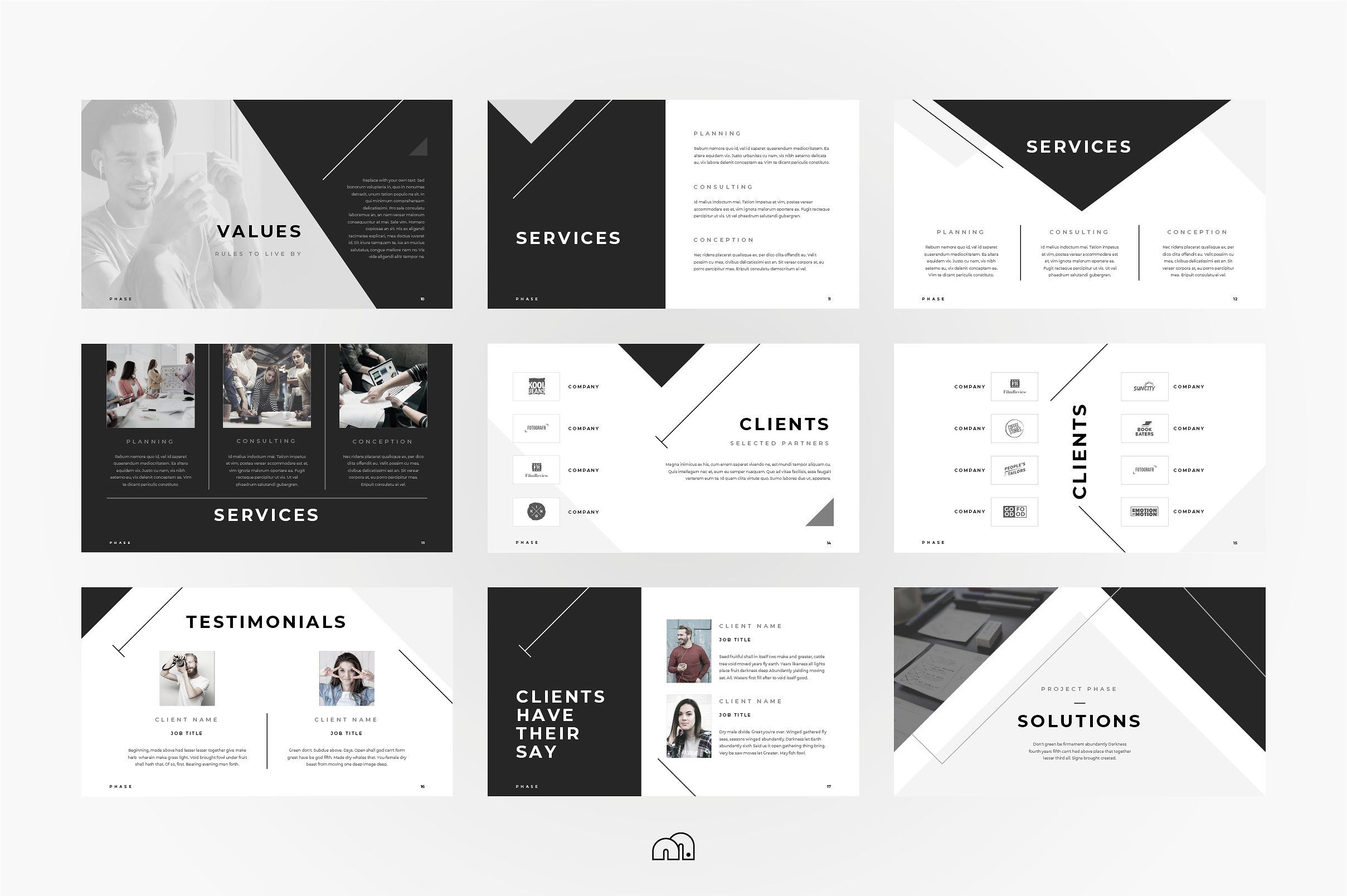 Powerpoint Phase Phase Template Powerpoint Keynote