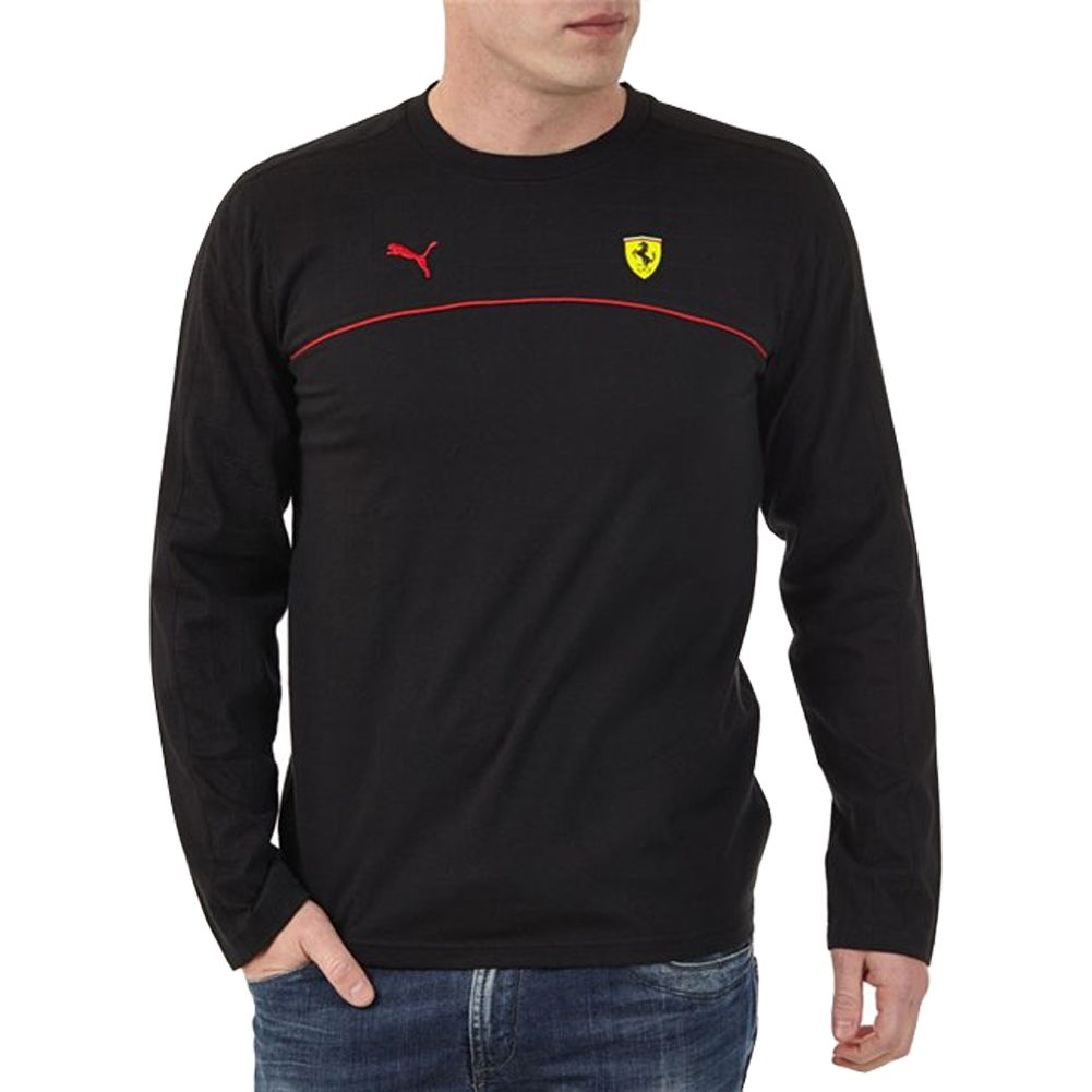 Sale on Puma Ferrari SF Men's Long-Sleeve Shirts - Motorhelmets