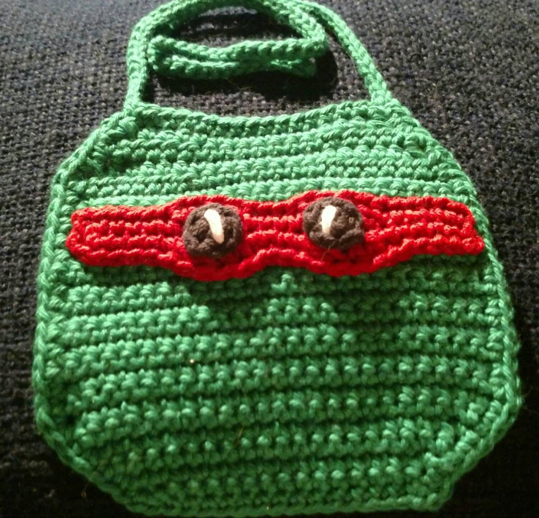 Masked turtle baby bib by KitandaKreations on Etsy