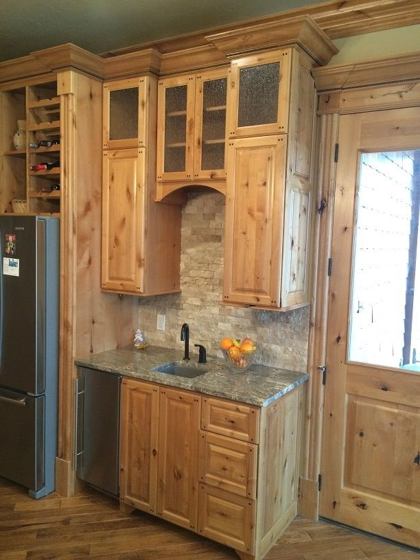 A Showcase Of Custom Cabinets Built Knotty Alder Designed With Raised Panel Doors In