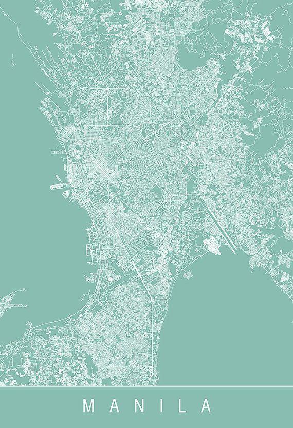 Manila map print line art city map manila by encoredesignstudios manila map print line art city map manila by encoredesignstudios philippine publicscrutiny Images