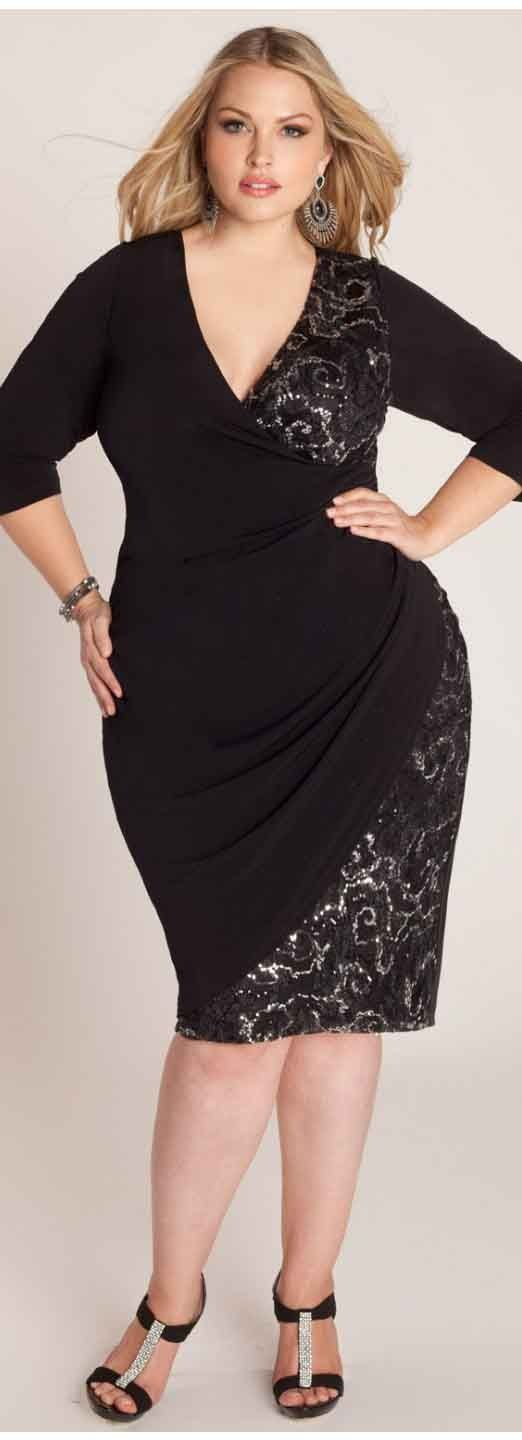 Top 10 Black Dresses For Plus Sized Women Body Size Real Women