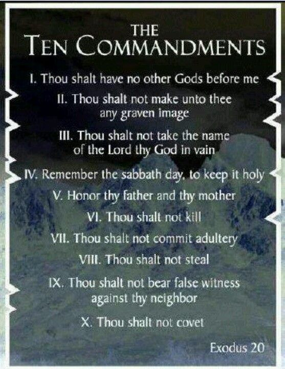 Ten Commandments Quotes: From The Book Of Exodus 20:1-17 In The Bible