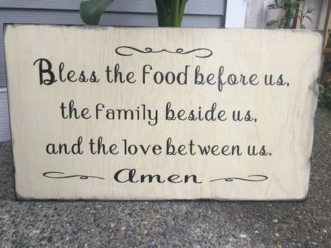 This Incredible prayer says it all! These are hand painted, lightly sanded and made from new wood right here in the heartland of America, then the wording and top seal coat is applied by our expert st