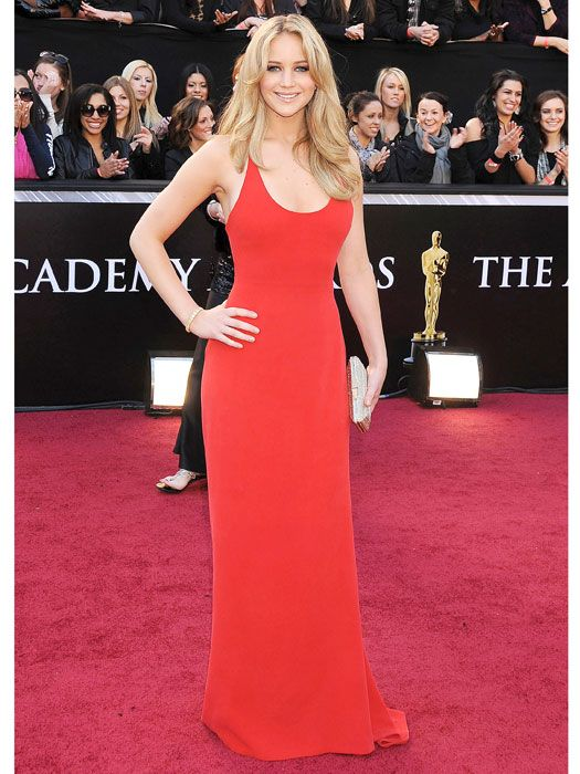 Jennifer Lawrence Calvin Klein Red Dress At The Academy Awards 2017 Iconic