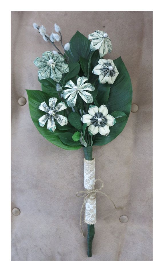Money bouquet (one dollar bills) - perfect for graduations, weddings ...
