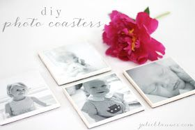 Coordinately Yours, by Julie Blanner | Entertaining & Design Blog that Celebrates Life: DIY Photo Coasters