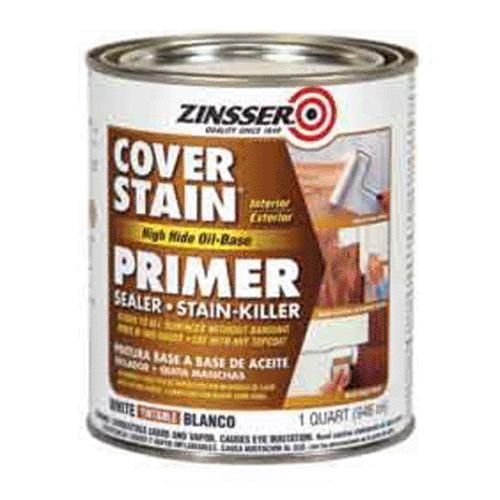 Zinsser 03554 High Hide Cover Stain Primer 1 Qt White