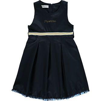 Blue Sleeveless A-Line Dress