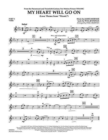 My Heart Will Go On Love Theme From Titanic Pt 1 Violin Violin Sheet Music Digital Sheet Music Sheet Music