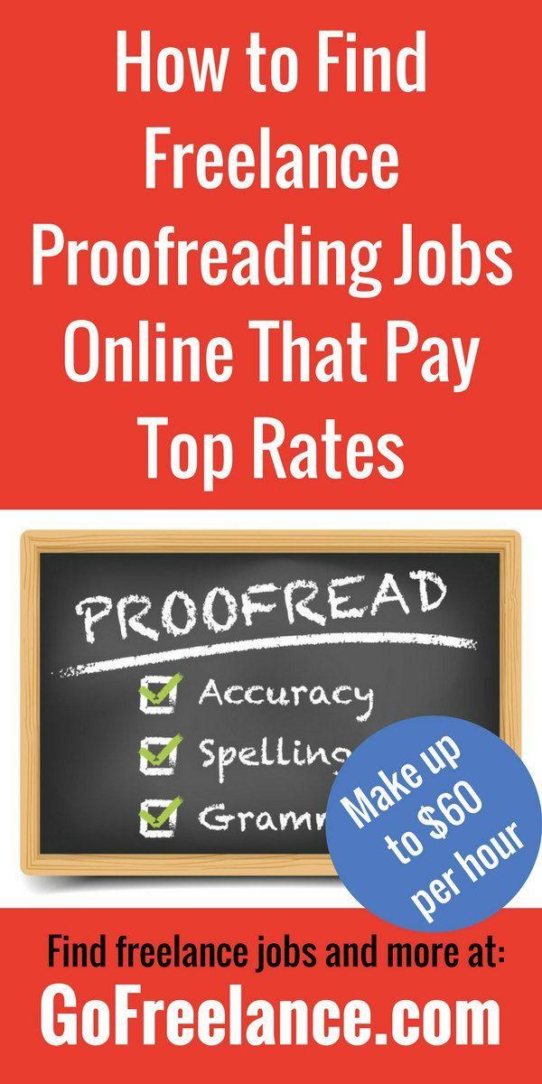 freelance proofreading rates