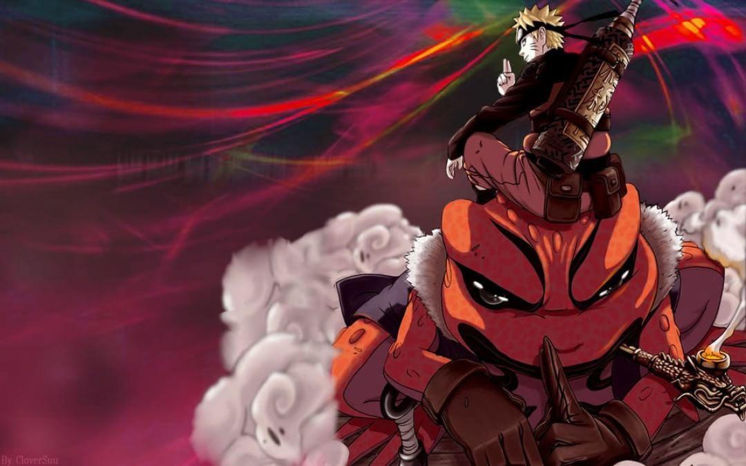 Naruto Summoning Jutsu Gamakichi The Toad D Uzumaki Jiraya