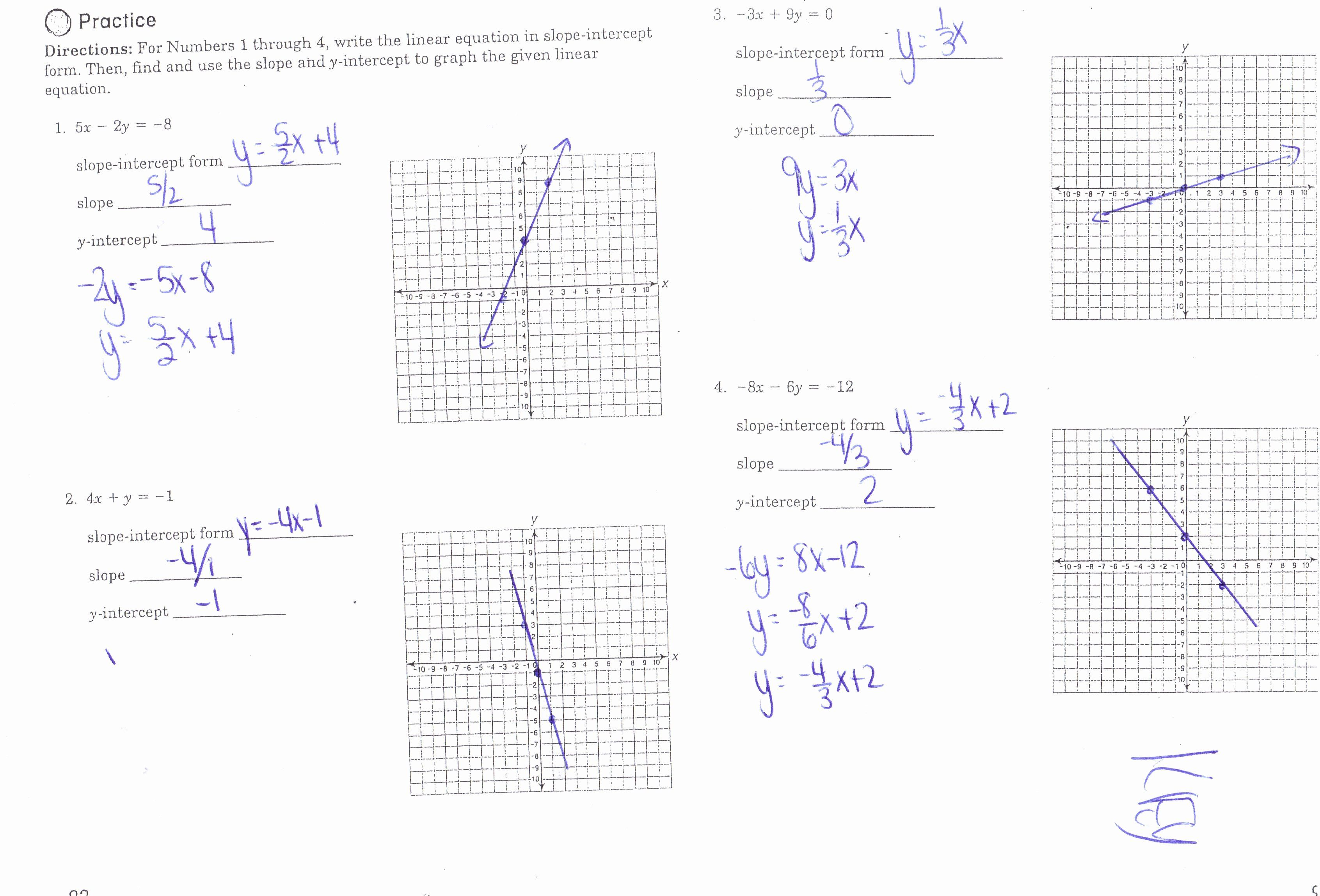 Slope Intercept Form Worksheet Fresh Algebra I Honors Mrs Jenee Blanco Go Mustangs In 2020 Slope Intercept Form Slope Intercept Pre Algebra Worksheets