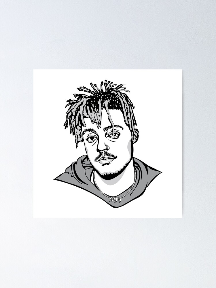 'Juice Wrld' Poster by sudoforart in 2020 Drawing people