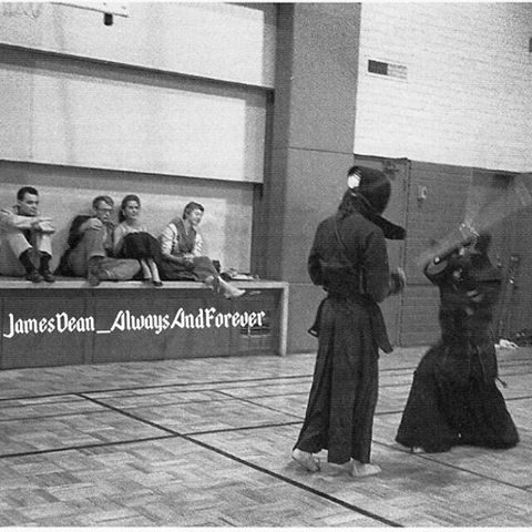 Bill Bast James Dean's close friend said one of the last things they did was attend a kendo match, and he said that James Dean still had his old Jett Rink hairstyle and look, he was almost unrecognisable. #jamesdean #billbast #kendo #americanicon #borncool #cool #icon #blackandwhite #oldies #vintage #50s #1950s #legendsneverdie #legend #classicactor #film #actor #hollywoodactor #oldhollywood #awesome #nice #love #americanlegend #foreveryoung #classicmovies #gorgeous #handsome #cute