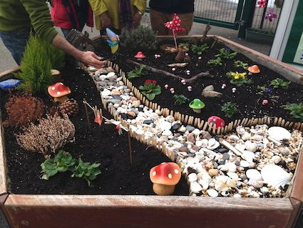 Large Fairy Garden Ideas our very large miniature garden in our greenhouse My Favorite Outdoor Exploration Fairy Gardens Great For Imagination Building Autonomy Strengthening