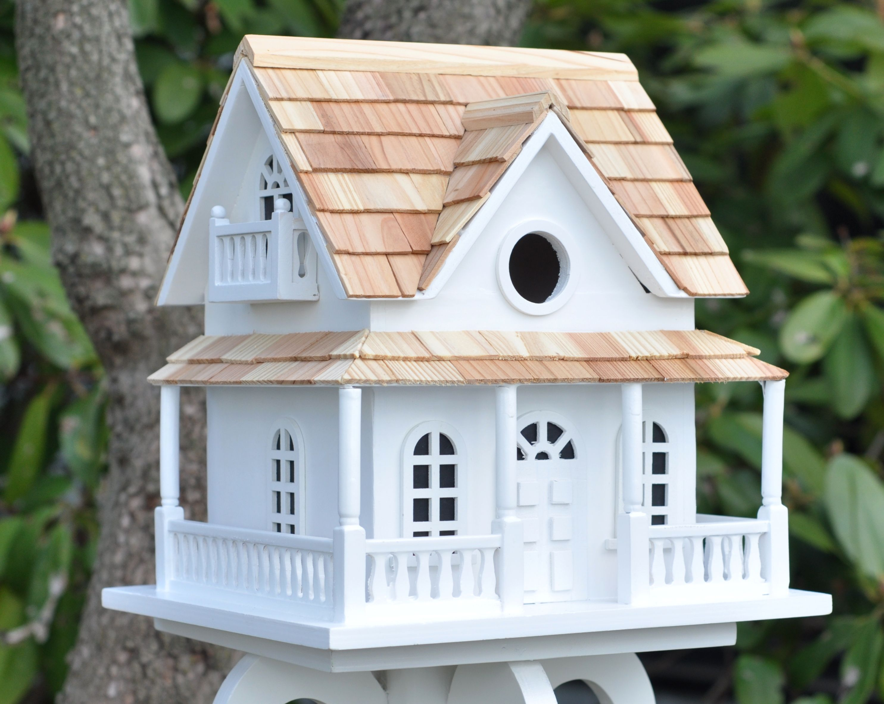 Home Bazaar Cape May Cottage Birdhouse White Bird Houses