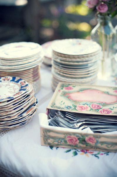 Vintage Plates // Jarusha Brown Photography