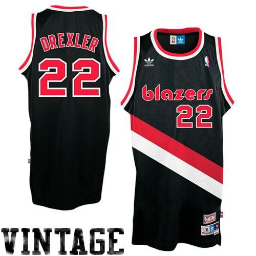 0f63bed41fda Mens Portland Trail Blazers Clyde Drexler adidas Black Hardwood Classics Soul  Swingman Throwback Jersey