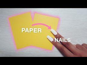 How To Make Fake Nails At Home | DIY Paper Nails