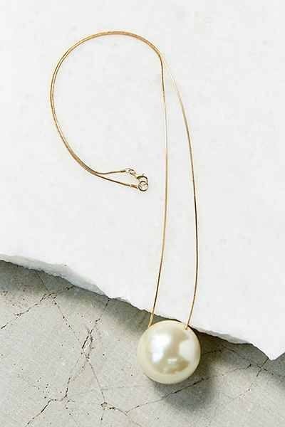 Large Pearl Pendant Necklace - Urban Outfitters
