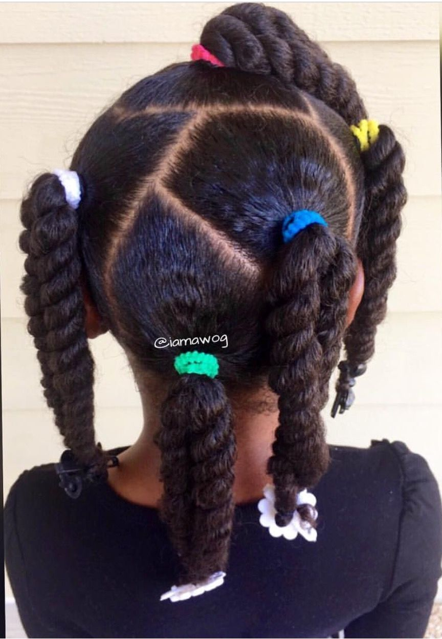 Easy protective style twists for kids curly hairstyles for kids