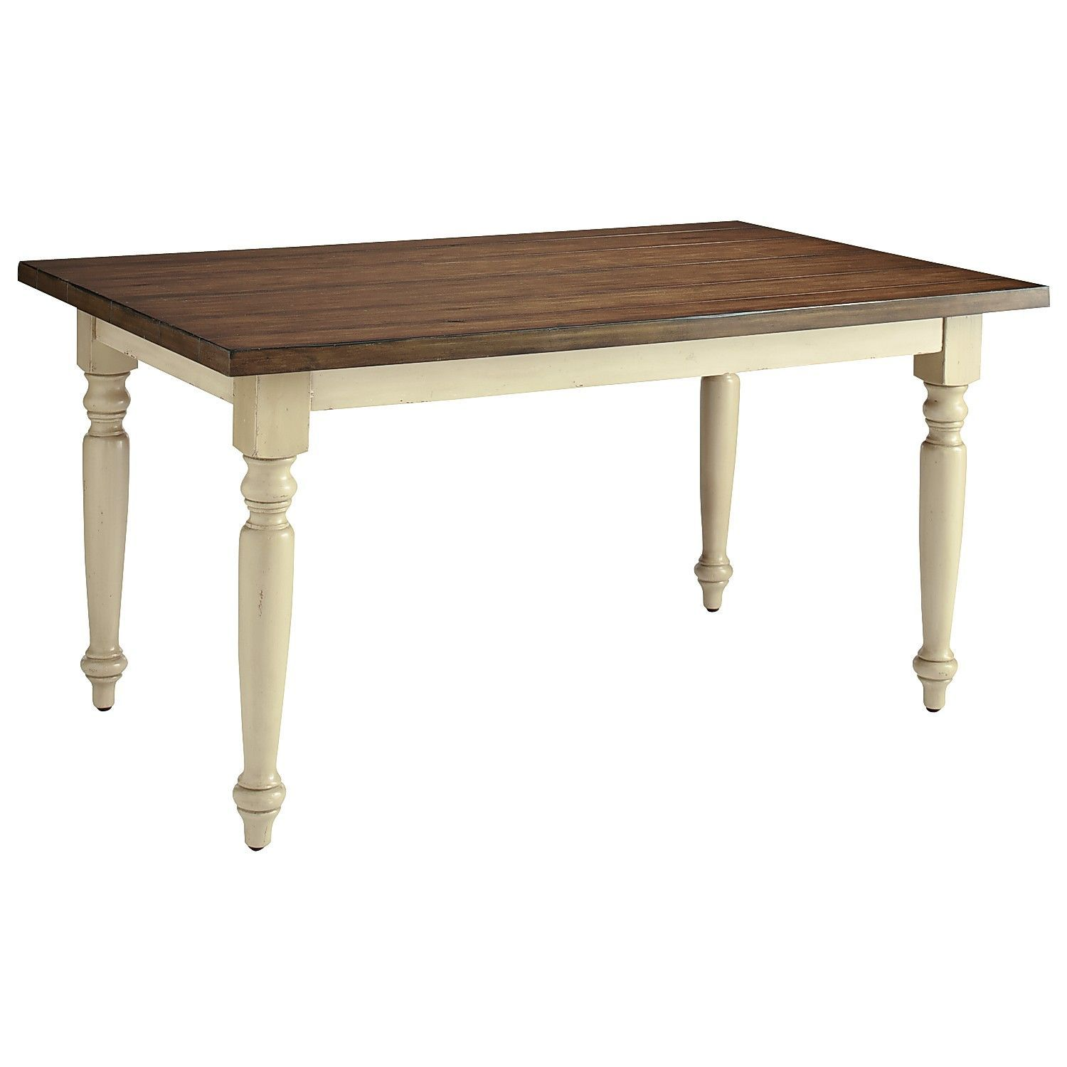 Pier 1: Carmichael Turned Leg Dining Table - Ivory ...