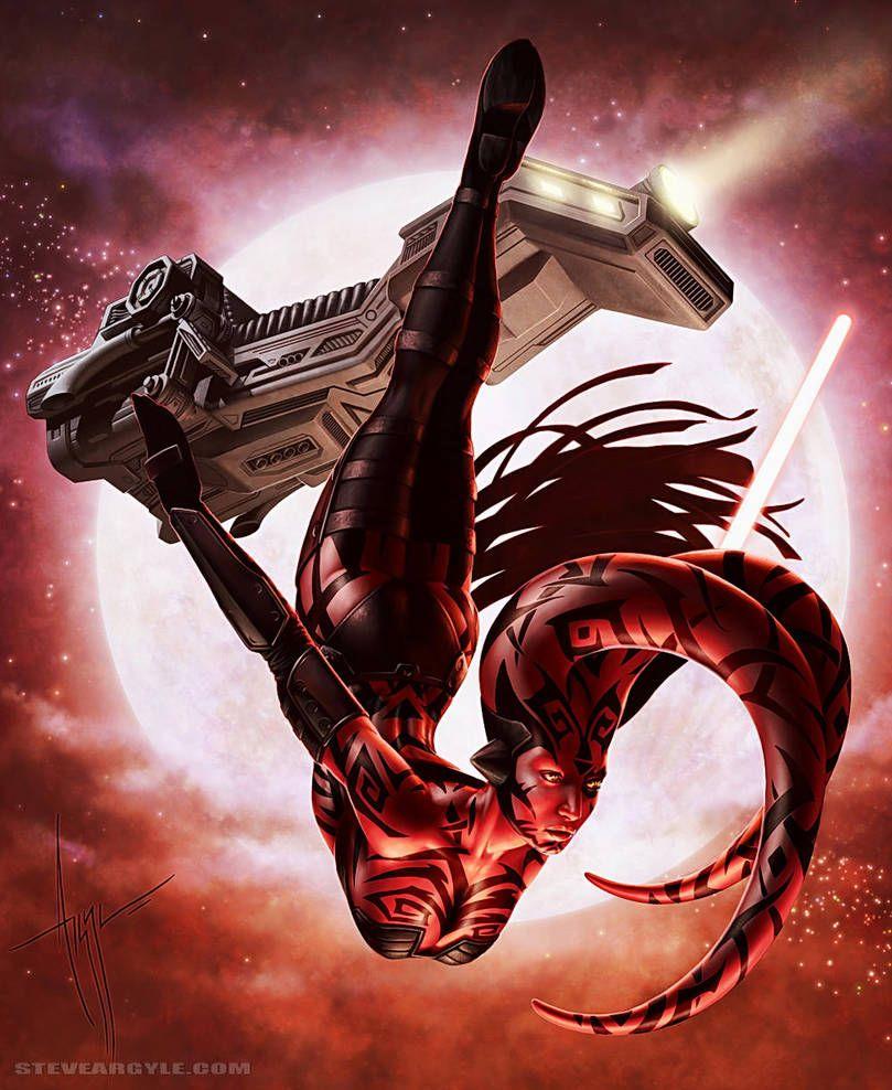 Darth Talon By Steve Argyle Star Wars Wallpaper Star Wars Art Star Wars Sith