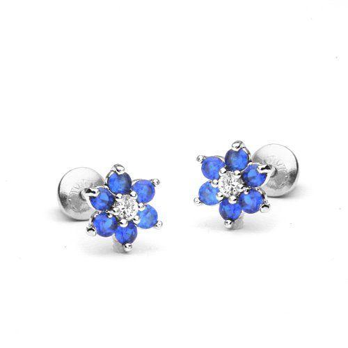 Gemstar Jewellery 14K Black Gold Plated Round Shape Cubic Zirconia Screw Back Halo Stud Earrings