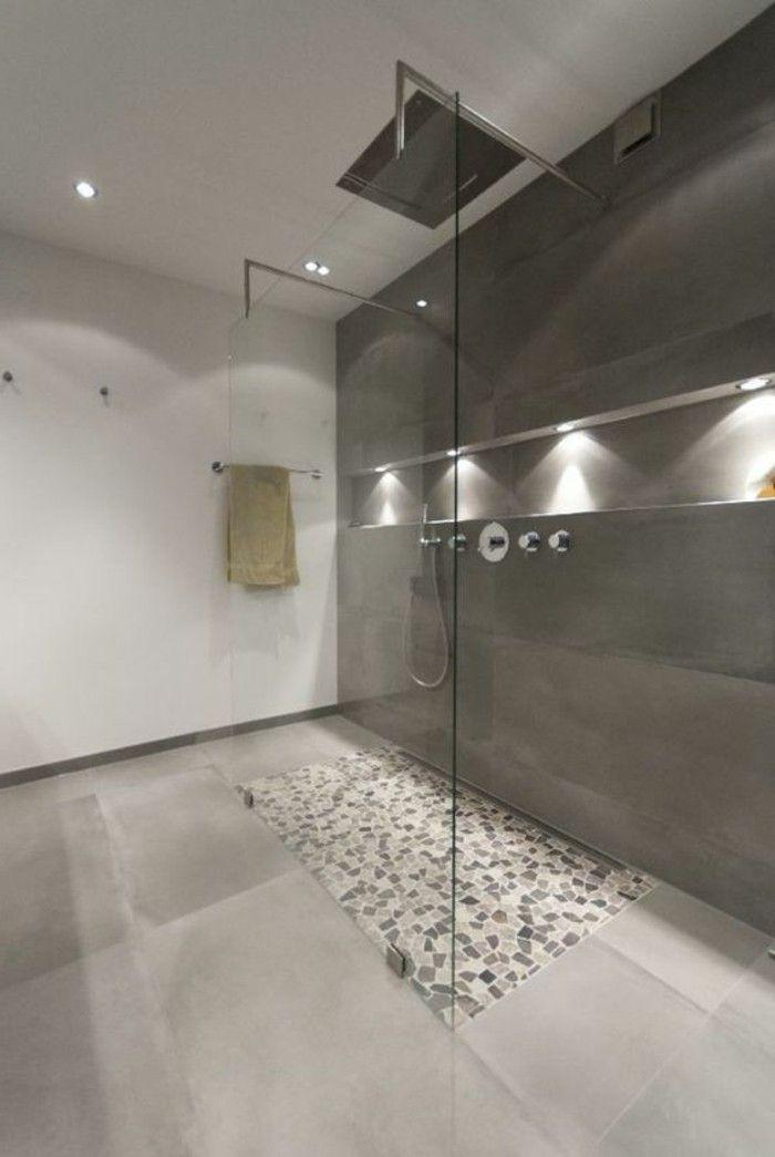 La salle de bain avec douche italienne 53 photos! Bathroom designs - faience ardoise salle de bain