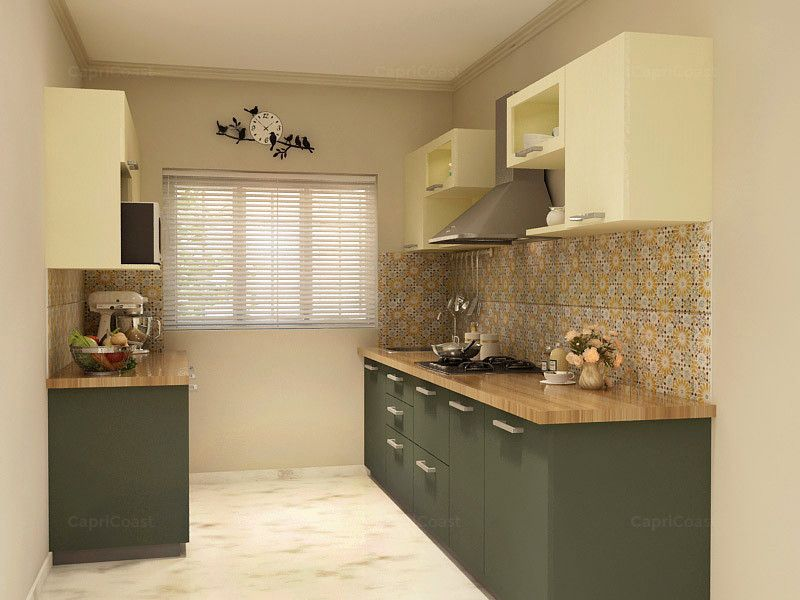 Parallel Brie Modular Kitchen On CapriCoast Is Fulfilled By SpaceWood And  Comes With MDF Cabinets,