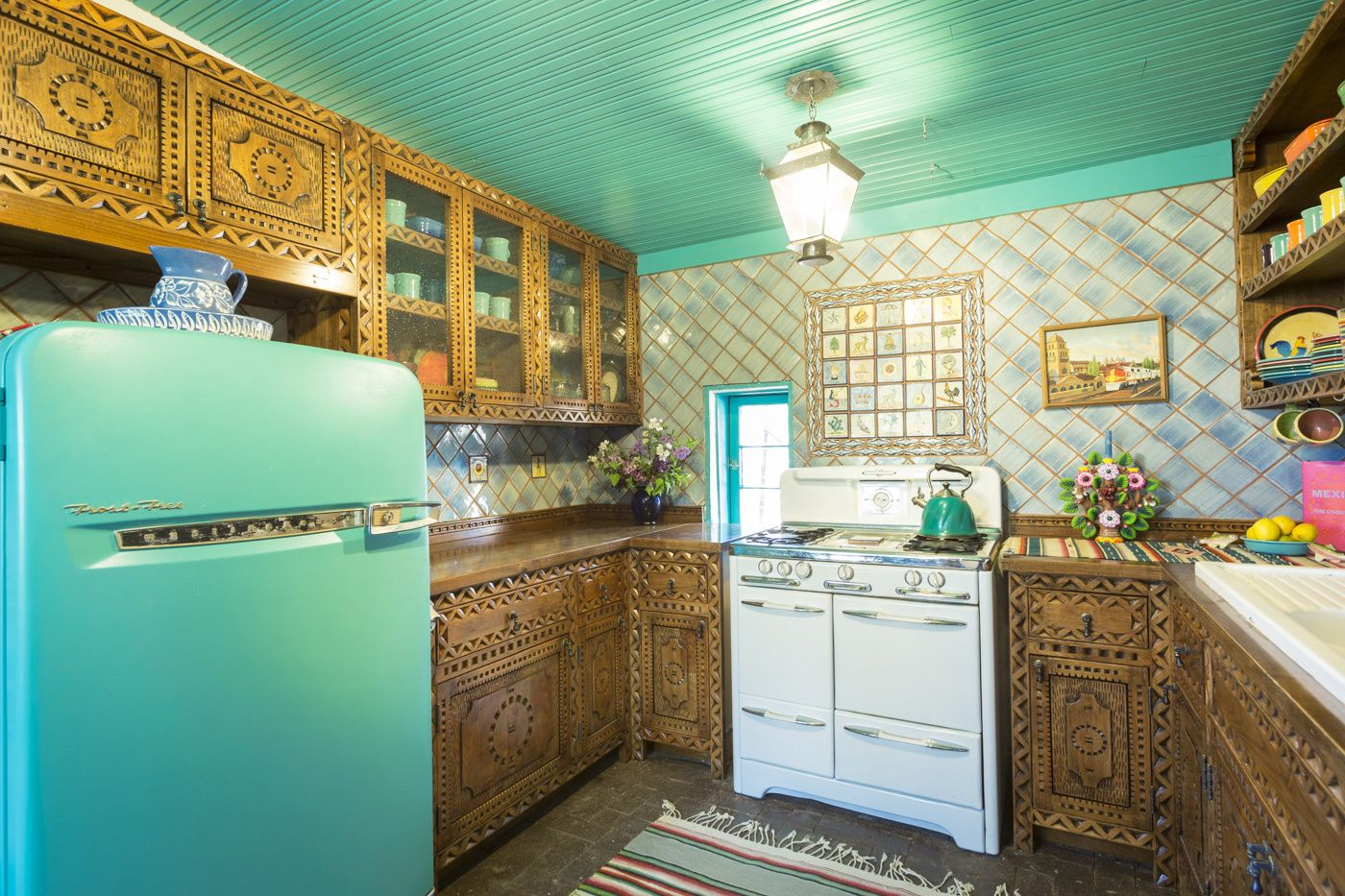 Custom Carved Cabinets Colorful Kitchen Gabriella Marks Photography Refacing Kitchen Cabinets Cabinet Refacing Custom Kitchen Cabinets
