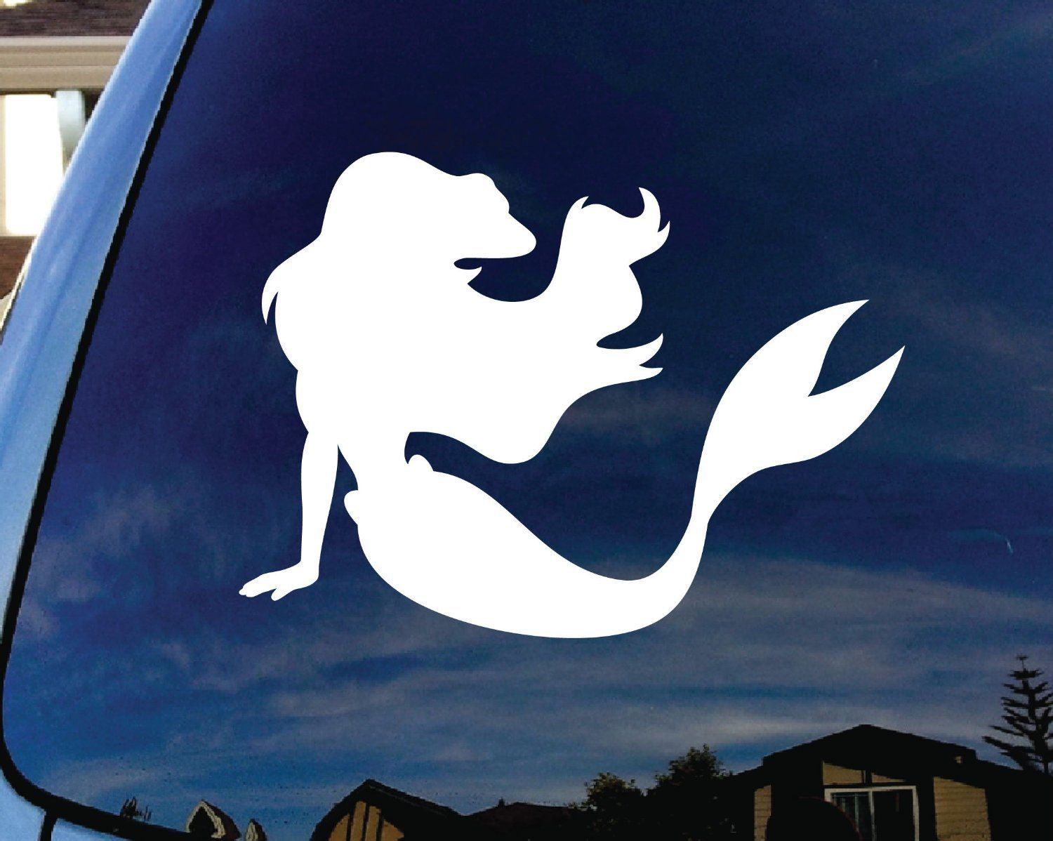 Moganhorses Save Of Little Mermaid Ariel Car Window Vinyl Decal - Mermaid custom vinyl decals for car