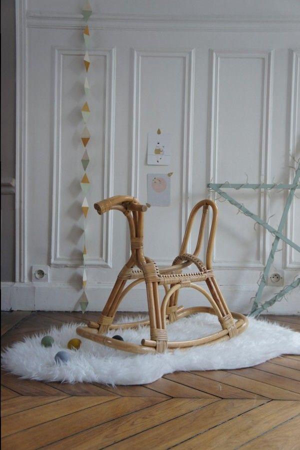 cheval à bascule en rotin sur wwwpetit-toitfr PETIT TOIT, l