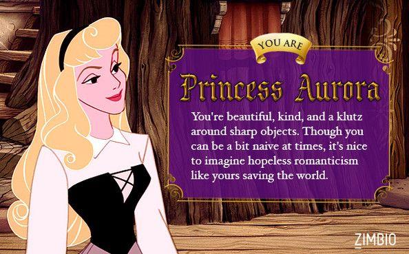 I took Zimbio's 'Sleeping Beauty' quiz and I'm Princess Aurora! Aurora is a hopeless romantic like me.