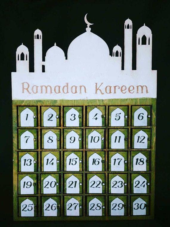 ramadan kalender holzkiste für bonbons4 verschiedene