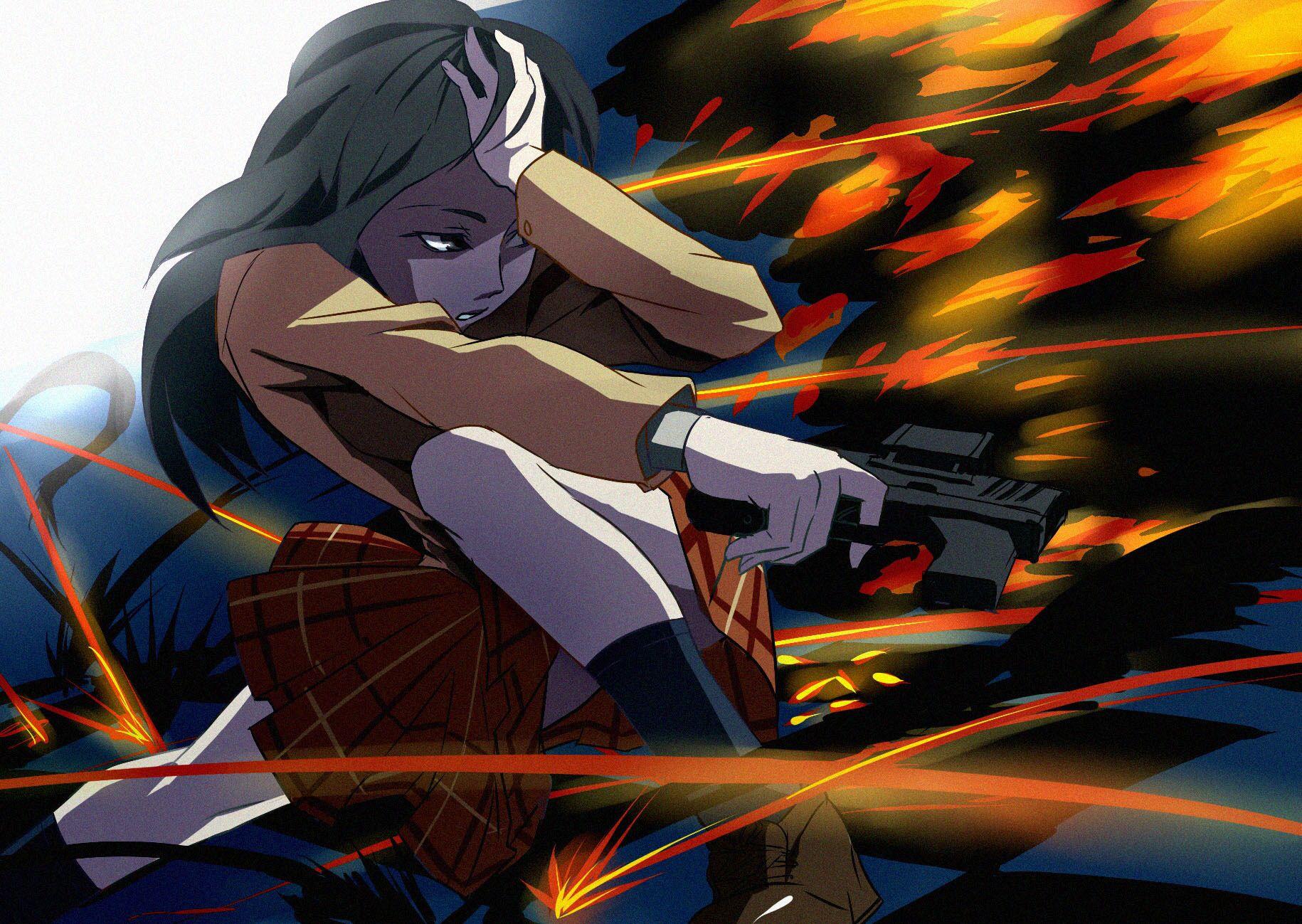 gun fight girl