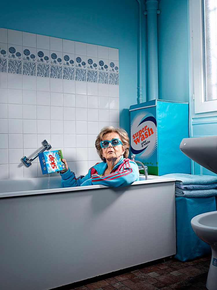Sacha Goldberger - Mamika - Galerie Acte 2 - Wad - Super Mamika - Mamika grande petite grand-mère - Ben Bensimon