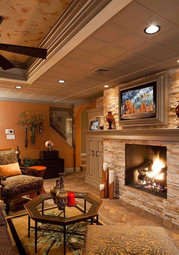 Cool basement | Dream Home○interior | Pinterest | La casa de mis ...