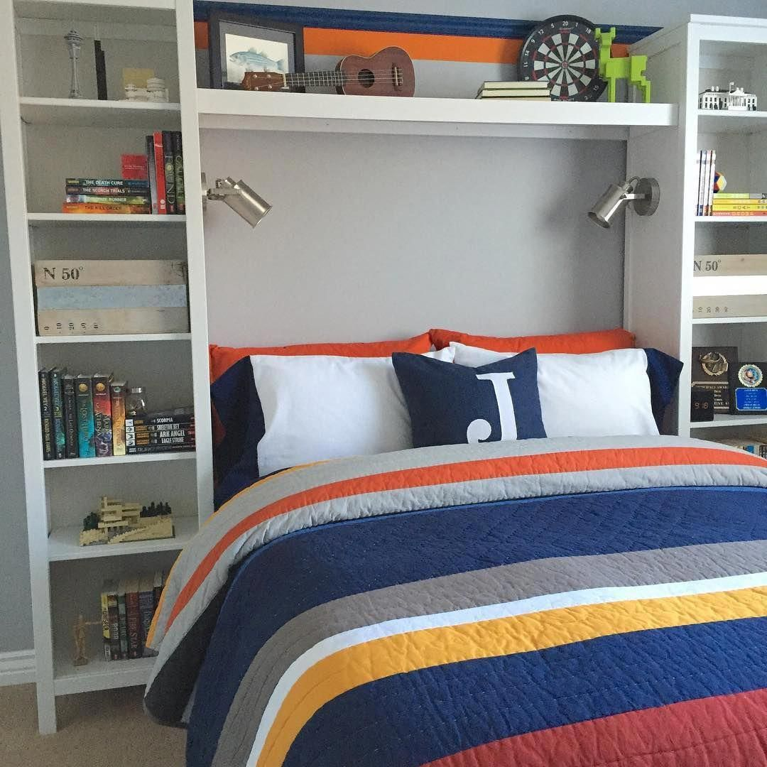 33 Best Teenage Boy Room Decor Ideas and Designs for 2018 ... on A Small Room Cheap Cool Bedroom Ideas For Teenage Guys Small Rooms  id=77203